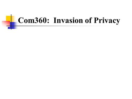 invasion of privacy law