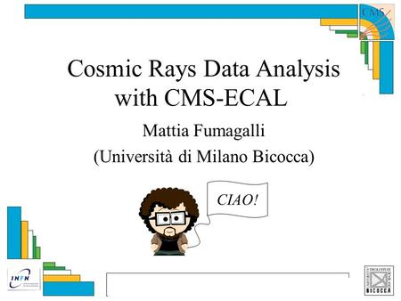 Cosmic Rays Data Analysis with CMS-ECAL Mattia Fumagalli (Università di Milano Bicocca) CIAO!