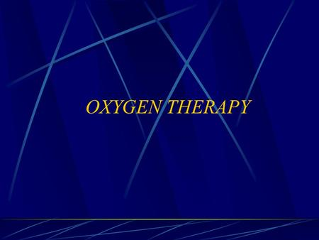 OXYGEN THERAPY. INTRODACTION: Oxygen is an odorless, tasteless, colorless, and transparent gas.That is slightly heavier than air. Because oxygen supports.