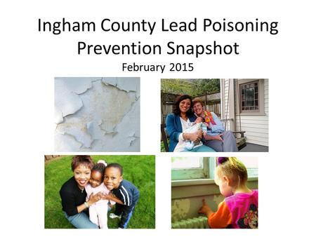 Ingham County Lead Poisoning Prevention Snapshot February 2015.