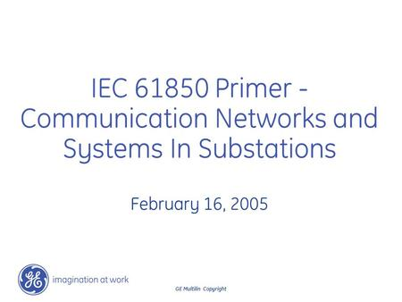 Communication Networks and Systems In Substations