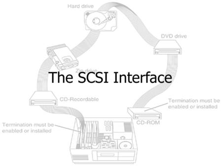 The SCSI Interface Objectives In this chapter, you will: -Understand the different SCSI standards and confusing naming schemes -Identify cables and connectors.