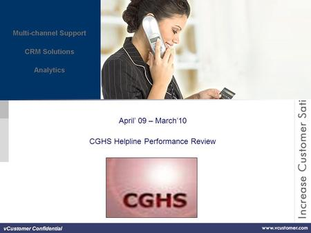 VCustomer Confidential April' 09 – March'10 CGHS Helpline Performance Review.