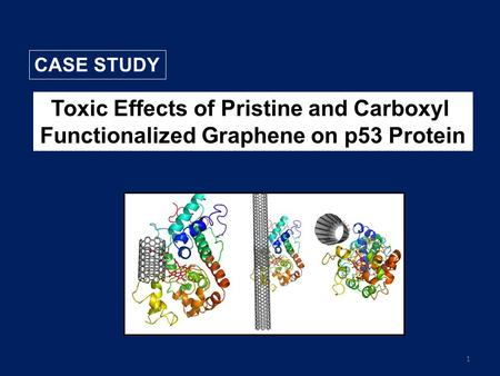 1 Toxic Effects of Pristine and Carboxyl Functionalized Graphene on p53 Protein CASE STUDY.