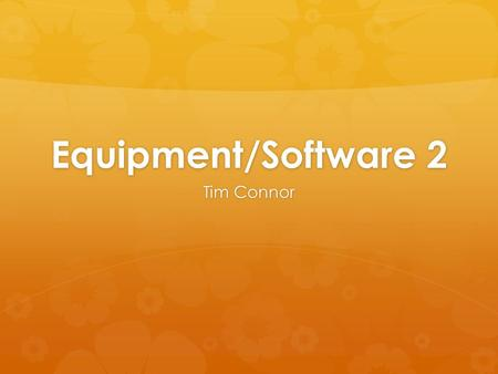 Equipment/Software 2 Tim Connor. Objective For Health & PE Class  To implement new technology into the classroom to engage students in the most innovative.