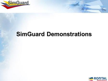 "SimGuard Demonstrations. 2 Incident Management Solutions. ""Incident"" – An incident is any mishap which distracts or negatively affects pre-scheduled activity."
