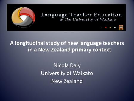 A longitudinal study of new language teachers in a New Zealand primary context Nicola Daly University of Waikato New Zealand.