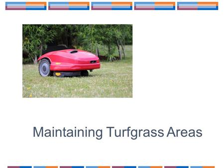 Maintaining Turfgrass Areas. How Do We Keep Our Lawn Healthy and Eye Appealing?