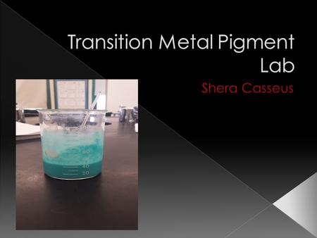 Transition Metal Pigment Lab
