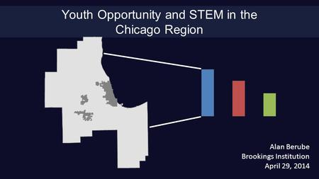 Youth Opportunity and STEM in the Chicago Region Alan Berube Brookings Institution April 29, 2014.