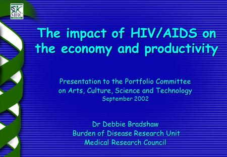 The impact of HIV and AIDS on Africa's economic development