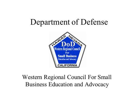 Western Regional Council For Small Business Education and Advocacy