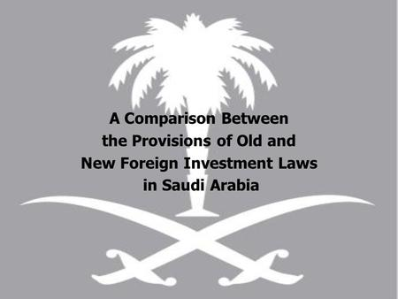 the Provisions of Old and New Foreign Investment Laws