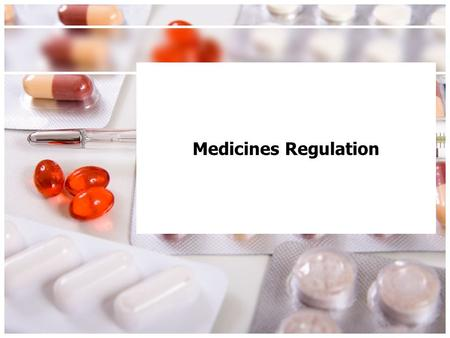 Medicines Regulation. This Lecture Medicines What is a medicine? Classification of Medicines Where do you find a list of Medicines and their classifications?