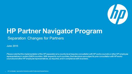 HP Partner Navigator Program