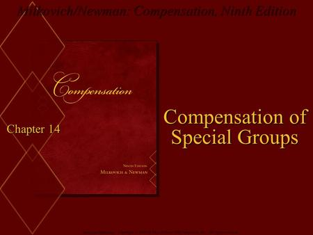 Compensation of Special Groups