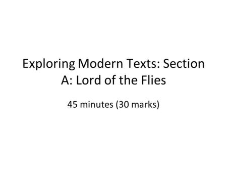 how the authors characterisation and language attributed to the novel of the lord of the flies by wi In william golding's novel the lord of the flies  (clear, concise, states author/work  lord of the flies summative assessment author:.