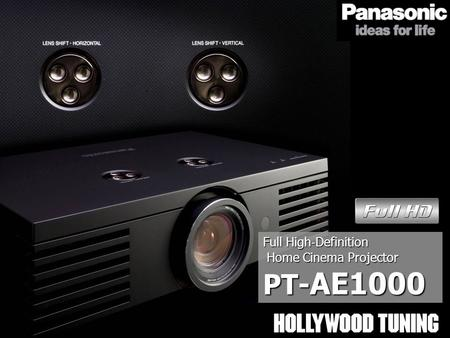 Full High ‐ Definition Home Cinema Projector Home Cinema Projector PT- AE1000.