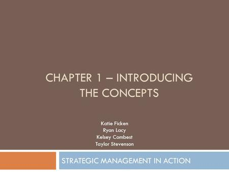 chapter 1 – Introducing the concepts