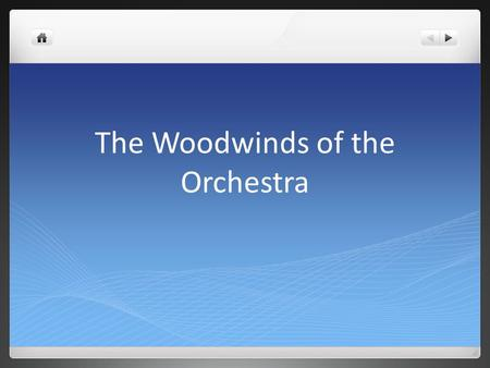 The Woodwinds of the Orchestra. The Flutes Flutes are some of the oldest instruments, dating back to the very beginning of human music Over the centuries,