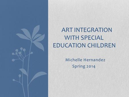 Art Integration with Special Education Children