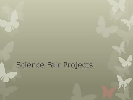 Science Fair Projects. Background Research Paper  Your background research paper must be 1 – 2 pages typed, double spaced, in Arial or Times New Roman.