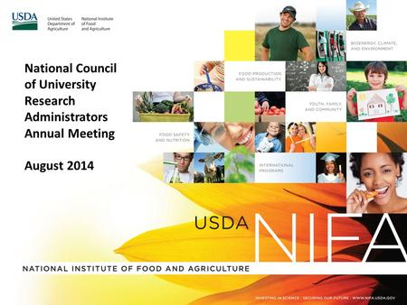 National Council of University Research Administrators Annual Meeting August 2014.