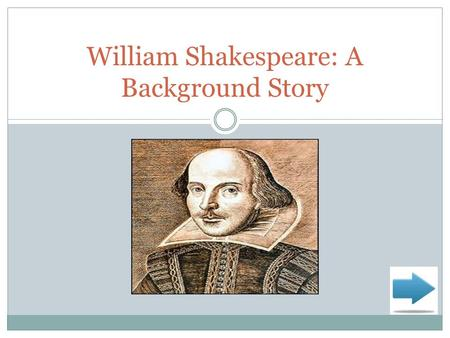 William Shakespeare: A Background Story. Here's the Big Idea! I'm sure, as a high school student, you are familiar with William Shakespeare. Perhaps you.