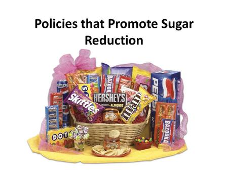 Policies that Promote Sugar Reduction. Natural Sugars VS Added Sugars Natural sugars – Fruits Bananas Mango Papaya Added sugars – soft drinks – candy.