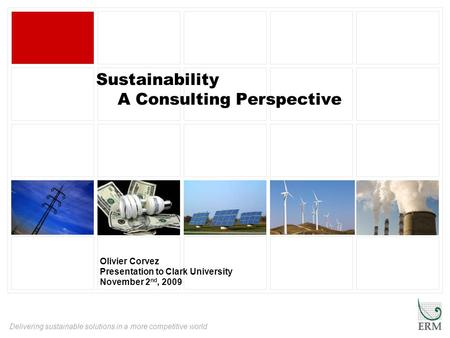 Sustainability A Consulting Perspective