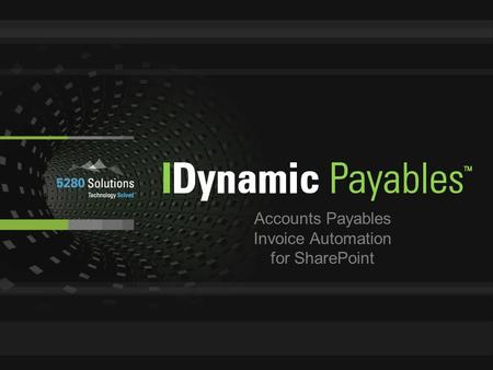 Accounts Payables Invoice Automation for SharePoint.