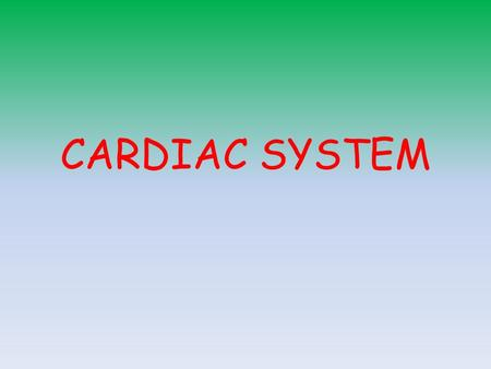 CARDIAC SYSTEM. Starter – From Homework Write down a definition for the following Stroke Volume Heart Rate Cardiac Output Starling's Law Add equations.