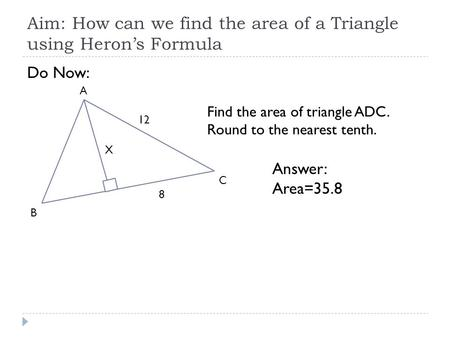 C Program to Calculate the Area of a Triangle