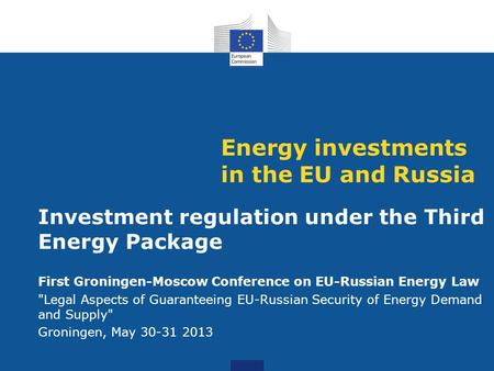 Energy investments in the EU and Russia