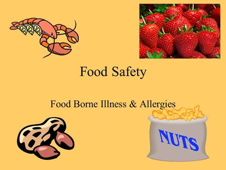 Food Safety Food Borne Illness & Allergies. Bacteria Defined… Any of a uni-cellular prokaryoptic micro- organism of the class of schizoycetes, which vary.