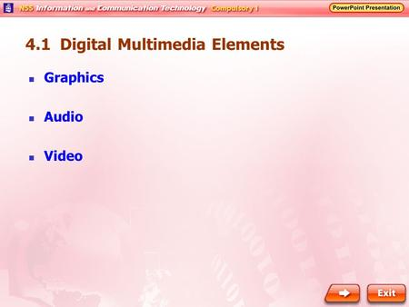 4.1 Digital Multimedia Elements