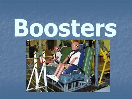 Boosters. 2 Basic Types Belt Positioning Belt Positioning Backless Backless High back High back Shield (no longer on the market, 30-40 lbs.) Shield (no.