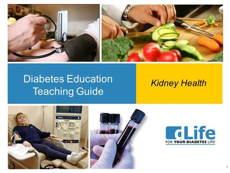 1 Diabetes Education Teaching Guide Kidney Health.
