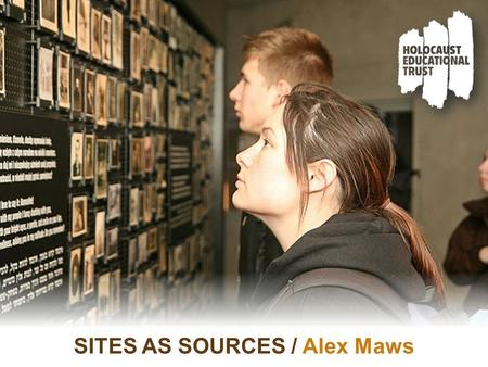 "SITES AS SOURCES / Alex Maws. ""The Austrian Memorial in the former death camp in Auschwitz was officially opened in March 1978, 40 years after Austria's."
