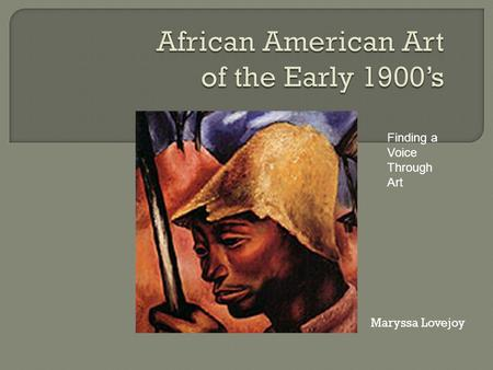 African American Art of the Early 1900's