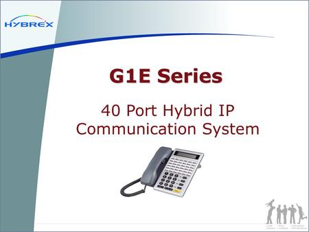 G1E Series 40 Port Hybrid IP Communication System.