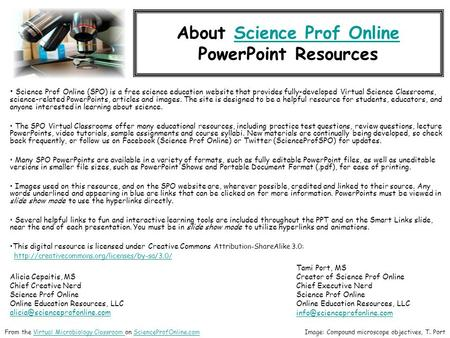 About Science Prof OnlineScience Prof Online PowerPoint Resources Science Prof Online (SPO) is a free science education website that provides fully-developed.