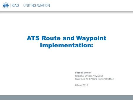 ATS Route and Waypoint Implementation: