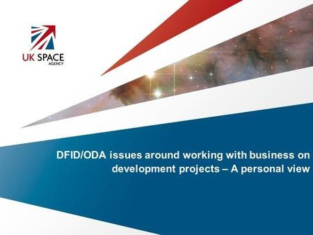 DFID/ODA issues around working with business on development projects – A personal view.