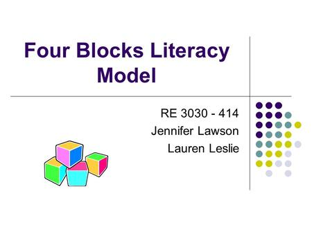 Four Blocks Literacy Model