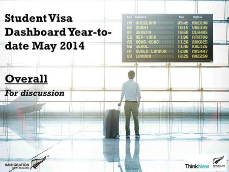 Student Visa Dashboard Year-to- date May 2014 Overall For discussion.
