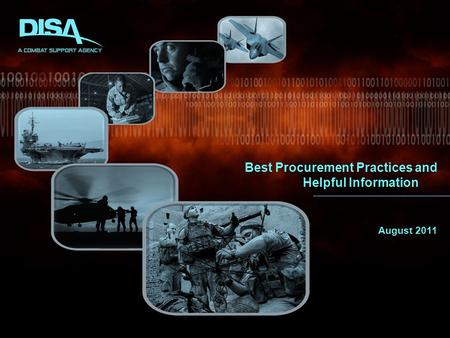 Best Procurement Practices and Helpful Information August 2011.