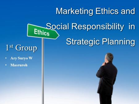 Ethics and Strategic Plan
