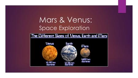 Mars & Venus: Space Exploration. INTRODUCTION  Humans have been curious about nature  Scientists send machines to explore other planets  Planets that.