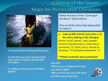 Calming of the Storm: Hope for Persecuted Christians